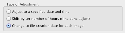 Screenshot of the Lightroom fix date setting.